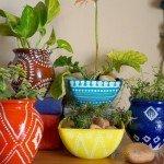 Handpainted Garden Pots