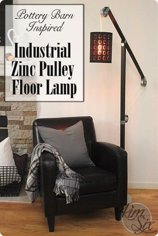 DIY Lighting ~ Pottery Barn Knock Off Pulley Floor Lamp