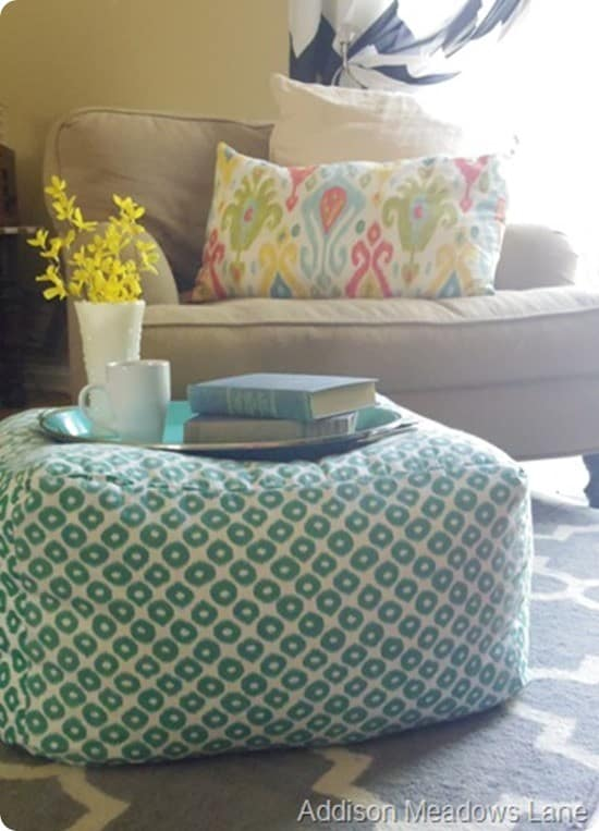 Oversized Floor Pouf Tutorial Knockoffdecor Com