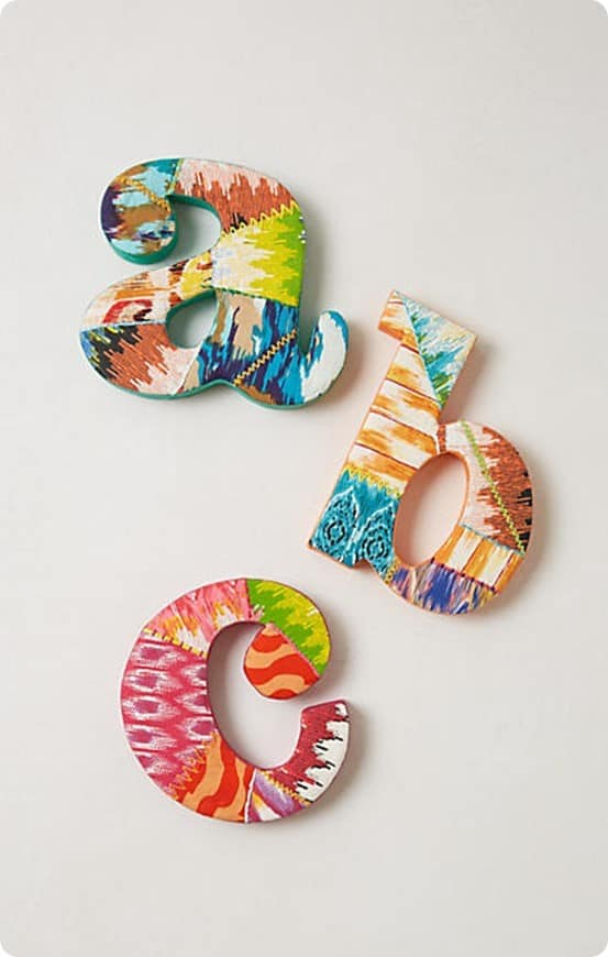 Ikat Monogram Letter from Anthropologie