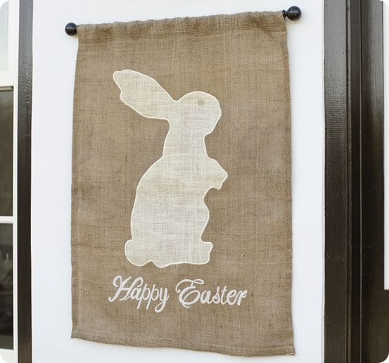 Outdoor Happy Easter Flag from Pottery Barn