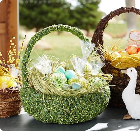 Greenery Covered Easter Basket