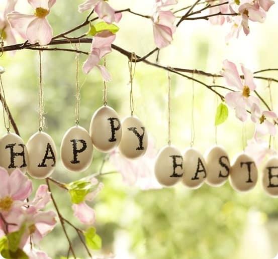 Pottery Barn Happy Easter Egg Vase Filler