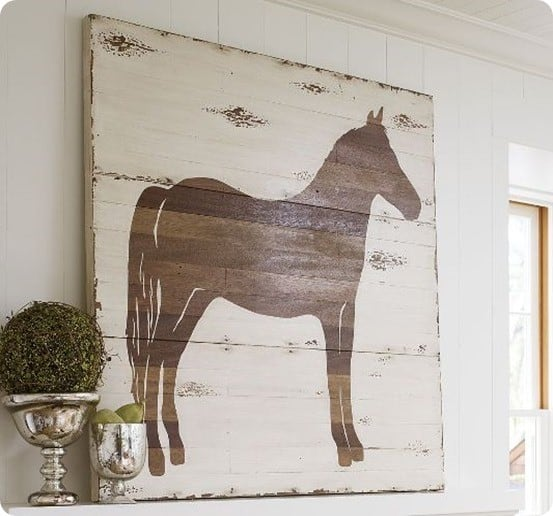 Pottery Barn Horse Art