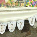 """Glitter """"Hop Hop Hop"""" Easter Banner"""
