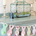 Fabric Easter Bunny Banner