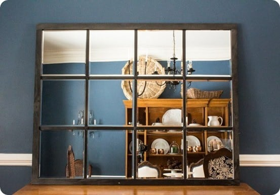 Pottery Barn Knock Off Eagan Mirror ~ This multipanel mirror is made using beveled edge mirrors from Target and is simple enough that anyone can do it!