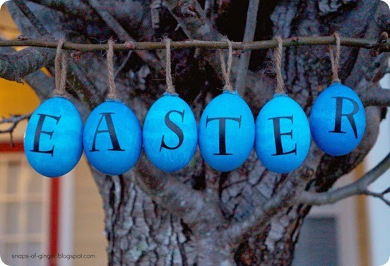 Pottery Barn Knock Off Easter Eggs ~ These are simple to make using blown out real eggs and dye!