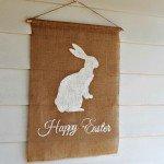 Burlap Easter Bunny Flag