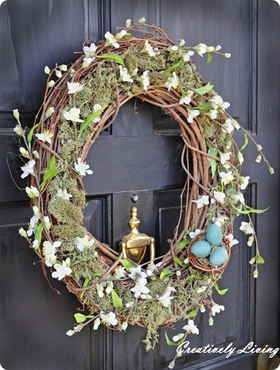 Spring Crafts ~ Pottery Barn Inspired Spring Wreath