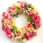 Dollar Store Floral Spring Wreath