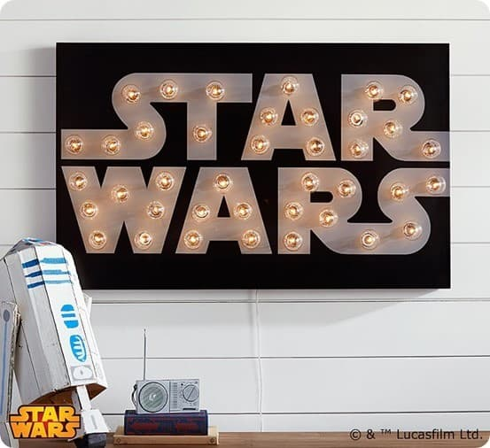 Star Wars Marquee Wall Art from Pottery Barn Kids