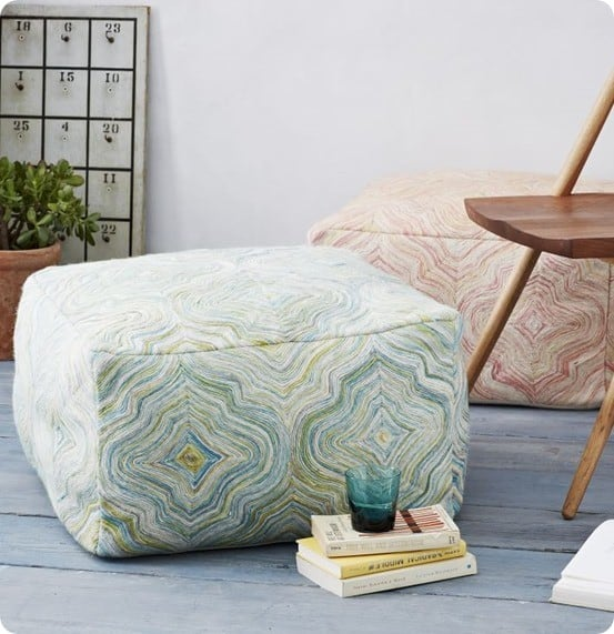 West Elm Multi-Mosaic Poufs