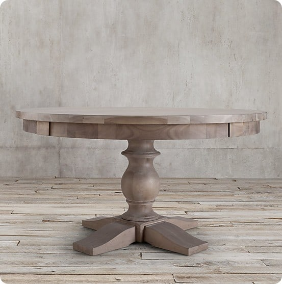 17th C Round Monastery Dining Table