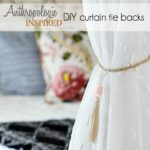 Faceted Bead Curtain Tie Backs