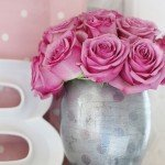 Dotted Mercury Glass Vase