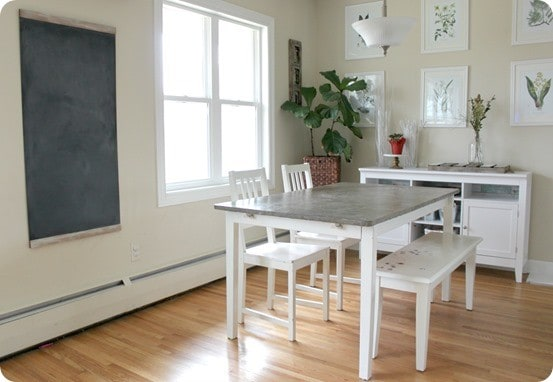 Ballard Design Knock Off Schoolhouse Chalkboard ~ This large DIY chalkboard is simple to make from a $10 chalkboard from the hardware store!