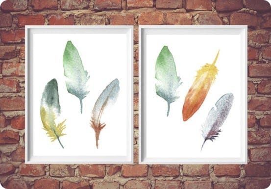 Ballard Designs Inspired FREE Feather Printable
