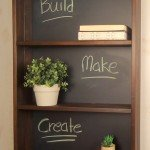 Vintage Industrial Chalkboard Shelf