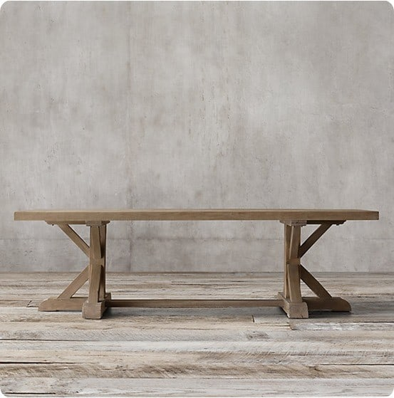 Belgian Trestle Rectangular Dining Table from Restoration Hardware