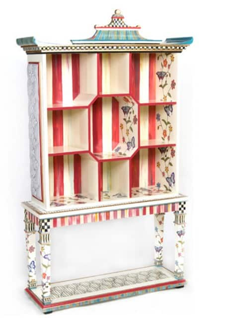 Butterfly Pagoda Bookshelf with Console Table from MacKenzie-Childs