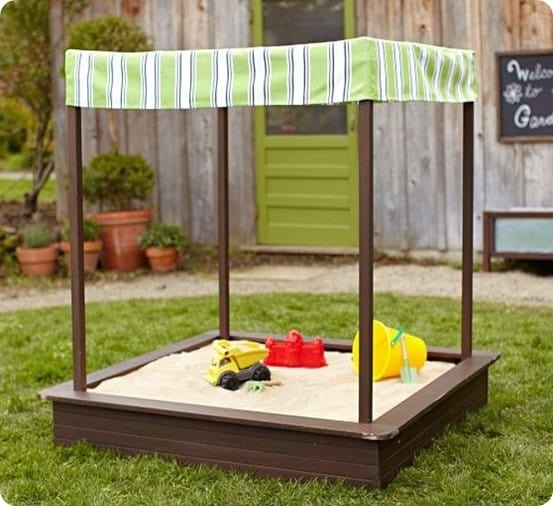 Chesapeake Sandbox with Awning from Pottery Barn Kids