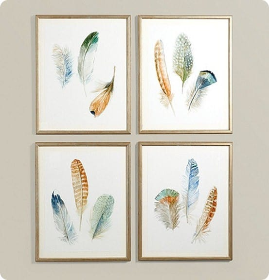 Free Printable Watercolor Feather Art