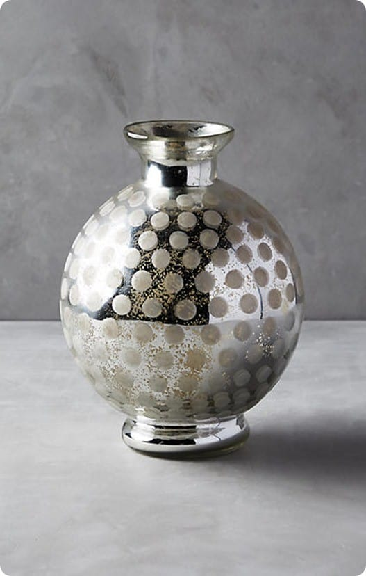 Frosted Mercury Vase from Anthropologie