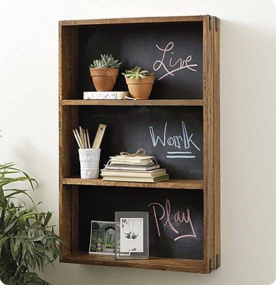 Oxford Chalkboard Shelf