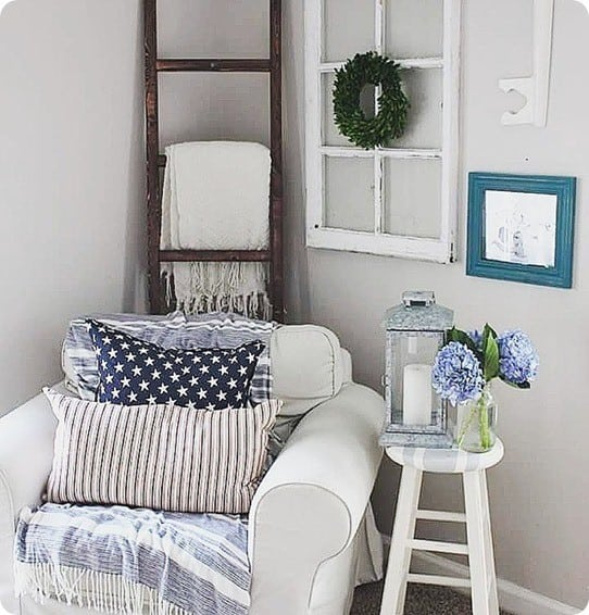 Pottery Barn Knock Off Blanket Ladder