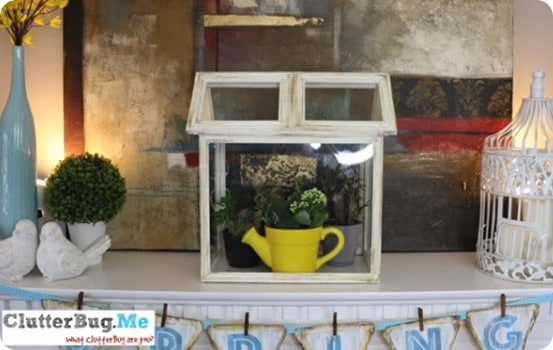 Pottery Barn Knock Off Terrarium ~ Made using hot glue and dollar store picture frames!