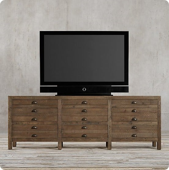 Printmaker's Media Console from Restoration Hardware