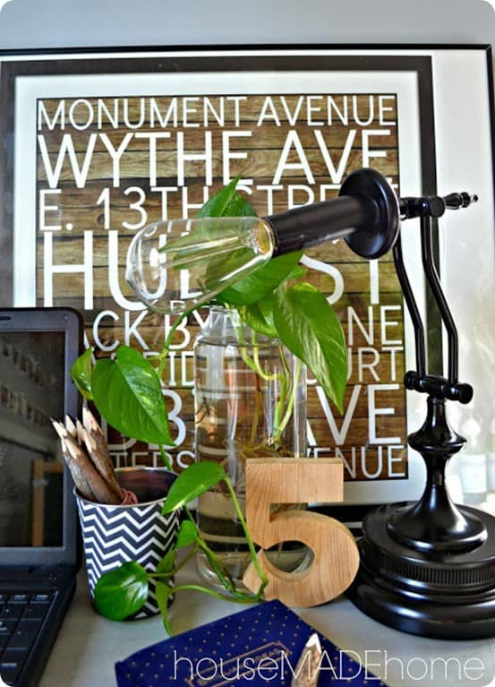 Restoration Hardware Inspired Industrial Task Lamp ~ Check out how this thrift store lamp was transformed into a RH look-a-like!