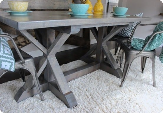 Restoration Hardware Knock Off Dining Table ~ Get the free building plans!