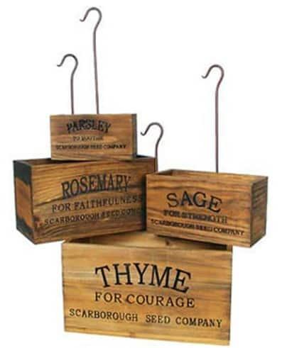 Vintage Nesting Herb Crates
