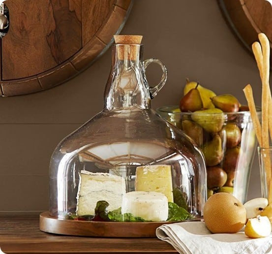Wine Bottle Jug Cloche Cheese Platter
