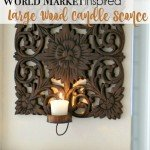 Carved Wood Candle Wall Sconce