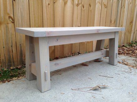 DIY Pottery Barn Inspired Bench