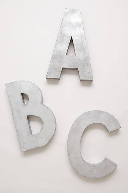 diy Anthropologie Inspired Letters