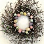 Twig and Easter Egg Spring Wreath