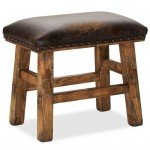 Leather Nailhead Stool