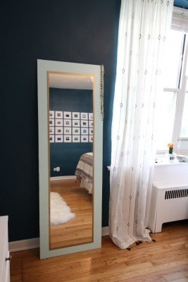 DIY mint mirror anthro hack