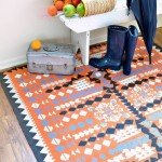 Paint an Aztec Rug with Drop Cloth