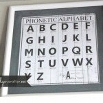 Vintage Framed Alphabet Art