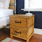Masculine Camp Style Nightstand for a Boy's Room