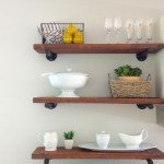 DIY Rustic Kitchen Shelves