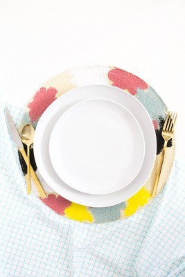 Kate Spade Inspired Painted Placemats