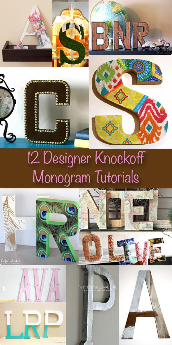 12 Designer Inspired Monogram Tutorials