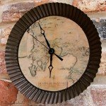 Antique Map Clock