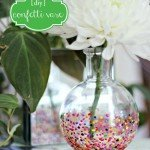 Anthropologie Inspired Colorful Confetti Vase